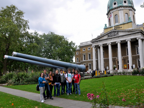 At the Imperial War Museum in London